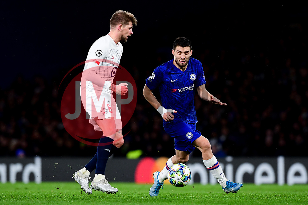 Xeka of Lille challenges Mateo Kovacic of Chelsea - Mandatory by-line: Ryan Hiscott/JMP - 10/12/2019 - FOOTBALL - Stamford Bridge - London, England - Chelsea v Lille - UEFA Champions League group stage