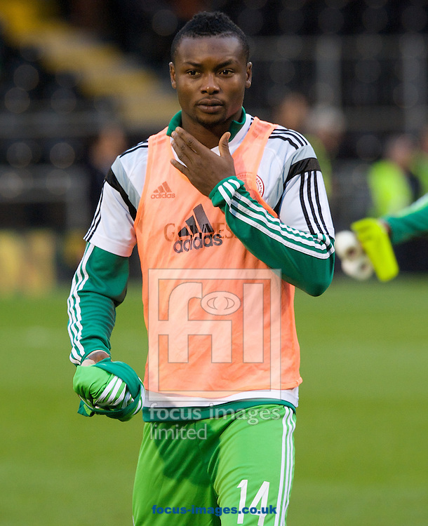 Godfrey Oboabona of Nigeria before the International Friendly match at Craven Cottage, London<br /> Picture by Alan Stanford/Focus Images Ltd +44 7915 056117<br /> 28/05/2014