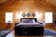 Top selling author Karin Slaughter does all her writing in a cabin in Epworth, Georgia. Her father Howard built the 2,400 square foot cabin for her. The master bedroom, seen June 13, 2010..CREDIT: Kendrick Brinson/LUCEO.KarinSlaughter