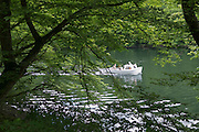 Boot am Edersee, Nordhessen, Hessen, Deutschland | boat on Lake Eder, Hesse, Germany