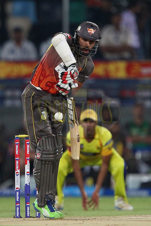 Shikhar Dhawan during match 54 of the Pepsi Indian Premier League between The Sunrisers Hyderabad and Chennai Superkings held at the Rajiv Gandhi International  Stadium, Hyderabad  on the 8th May 2013..Photo by Ron Gaunt-IPL-SPORTZPICS ..Use of this image is subject to the terms and conditions as outlined by the BCCI. These terms can be found by following this link:..http://www.sportzpics.co.za/image/I0000SoRagM2cIEc