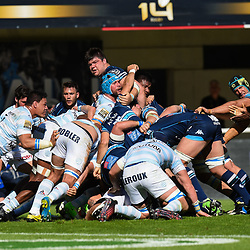 Scrum of Montpellier during the Top 14 match between Montpellier Rugby and Racing 92  on May 20, 2017 in Montpellier, France. (Photo by Alexandre Dimou/Icon Sport )