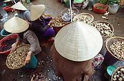 February 2005 - Pleiku, Vietnam - Vendors selling their products at a market in central Pleiku. Photo Credit: Luke Duggleby