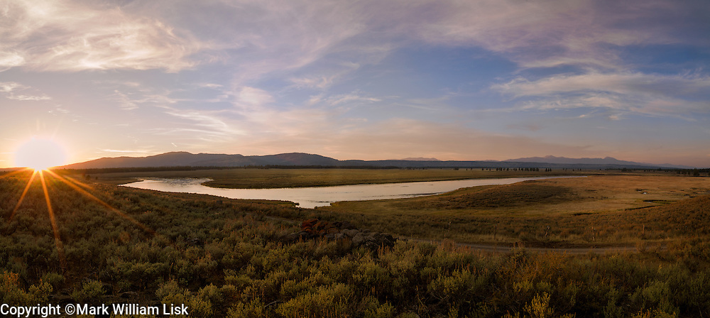 Sunset on the Henry's Fork of the Snake River in Harriman State Park.
