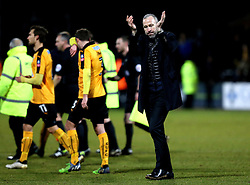 Cambridge United manager Shaun Derry looks frustrated after the defeat to Leeds United in the FA Cup - Mandatory by-line: Robbie Stephenson/JMP - 09/01/2017 - FOOTBALL - Cambs Glass Stadium - Cambridge, England - Cambridge United v Leeds United - FA Cup third round