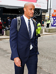 Manchester City's Vincent Kompany arrives at Manchester Airport to board the team flight to Barcelona ahead of the UEFA Champions League second leg match against Barcelona - Photo mandatory by-line: Matt McNulty/JMP - Mobile: 07966 386802 - 17/03/2015 - SPORT - Football - Manchester - Manchester Airport - Barcelona v Manchester City - UEFA Champions League