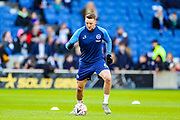 Brighton & Hove Albion midfielder Dale Stephens (6) warms up during the The FA Cup match between Brighton and Hove Albion and Sheffield Wednesday at the American Express Community Stadium, Brighton and Hove, England on 4 January 2020.