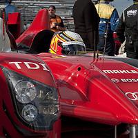 #8 Audi R15 TDI in the pit lane - Audi Sport Team Joest (Drivers - Timo Bernhard and Rinaldo Capello) LMP1, Le Mans Series Silverstone 1000KM 2010