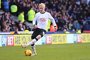Derby County midfielder Will Hughes (19) during the Sky Bet Championship match between Derby County and Sheffield Wednesday at the iPro Stadium, Derby, England on 21 February 2015. Photo by Aaron Lupton.