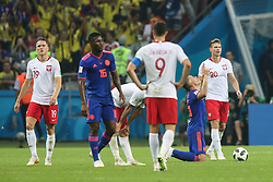 June 24, 2018 - Kazan, Russia - Colombia's midfielder Carlos Sanchez at the end of the Russia 2018 World Cup Group H football match between Poland and Colombia at the Kazan Arena in Kazan on June 24, 2018. Colombia won 0-3. (Credit Image: © Foto Olimpik/NurPhoto via ZUMA Press)