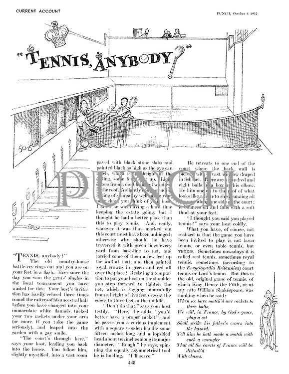 """Tennis, Anybody?"""