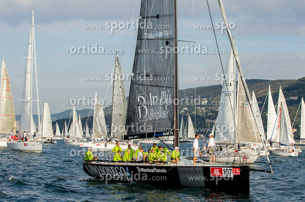 Sailboat A-Team Lino Sonego of Stefano Spangaro and Martin Giorgio during the North Adriatic regatta Barcolana 2014, on October 12, 2014 in Gulf of Trieste, Italy. Photo by Vid Ponikvar / Sportida.com