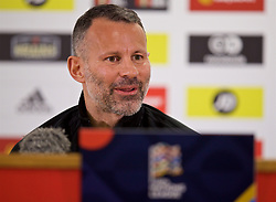 CARDIFF, WALES - Thursday, November 15, 2018: Wales' manager Ryan Giggs during a press conference at the Cardiff City Stadium ahead of the UEFA Nations League Group Stage League B Group 4 match between Wales and Denmark. (Pic by David Rawcliffe/Propaganda)