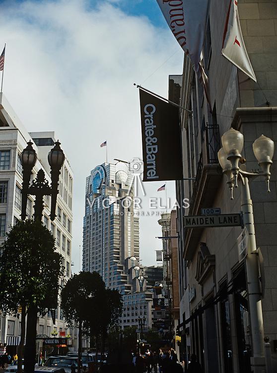 Street in downtown San Francisco.San Francisco, CA..USA.