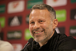 BUDAPEST, HUNGARY - Monday, June 10, 2019: Wales' manager Ryan Giggs during a press conference ahead of the UEFA Euro 2020 Qualifying Group E match between Hungary and Wales at the Ferencváros Stadion. (Pic by David Rawcliffe/Propaganda)