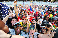 Fans after the race.<br /> United States Grand Prix, Sunday 2nd November 2014. Circuit of the Americas, Austin, Texas, USA.