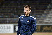 14th September 2019; Dens Park, Dundee, Scotland; Scottish Championship, Dundee Football Club versus Alloa Athletic; Steven Hetherington of Alloa Athletic during the warm up before the match