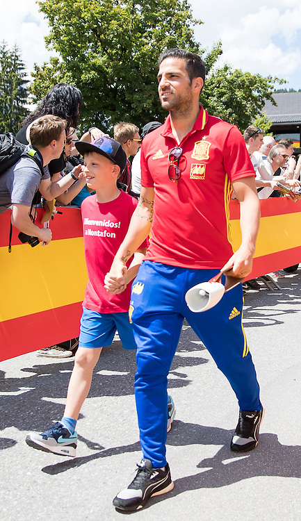 Cess Fabregas of Spain arrives at Lowen Hotel, Schruns, Austria.<br /> Picture by EXPA Pictures/Focus Images Ltd 07814482222<br /> 26/05/2016<br /> ***UK &amp; IRELAND ONLY***<br /> EXPA-GRO-160526-5005.jpg