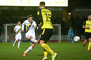 James Henry of Oxford United (17) shoots at goal during the EFL Sky Bet League 1 match between Burton Albion and Oxford United at the Pirelli Stadium, Burton upon Trent, England on 11 February 2020.