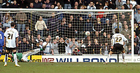 Photo: Leigh Quinnell.<br /> Derby County v Crystal Palace. Coca Cola Championship. 25/03/2006. Derbys Inigo Idiakez tucks away the rebound ball after his penalty was saved by Gabor Kiraly.