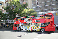 Tour bus in Madrid Spain