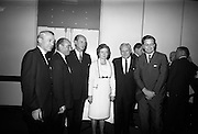 16/11/1966<br /> 11/16/1966<br /> 16 November 1966<br /> O'Brien Plastics Ltd., Bishopstown, Cork reception at the Intercontinental Hotel, Dublin to announce that Philips Petroleum Company, Oklahoma U.S.A had acquired a 50% interest in O'Brien Plastics. Picture shows (l-r): Mr. Paul Tucker; Mr. William O'Brien; Taoiseach Jack Lynch T.D.; Mrs O'Brien; Mr. Edwin Van Den Bark, Phillips Petroleum Co. and Mr. P.L. Levine, Phillips Petroleum Co.
