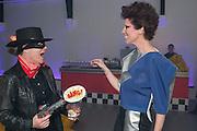 GEORGINA CORRIE; VALERIA NAPOLEONE;   Pop party. the birthday celebration of twin sisters Valeria Napoleone and Stefania Pramma. Studio Voltaire, London SW4. 17 May 2013.