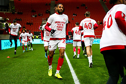 Ashley Williams as Bristol City wear special warm up shirts in tribute to the Afobe family following the passing of Benik Afobe's baby daughter Amora, aged 2 - Rogan/JMP - 10/12/2019 - Ashton Gate Stadium - Bristol, England - Bristol City v Milwall FC - Sky Bet Championship.