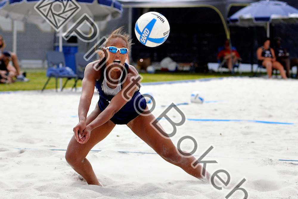 2013 March 29 - FIU's Jessica Gehrke (15). .Florida International University split the first day of the Surf and Turf Tournament held in Miami, Florida. (Photo by: www.photobokeh.com / Alex J. Hernandez) This image is copyright PhotoBokeh.com and may not be reproduced or retransmitted without express written consent of PhotoBokeh.com. ©2013 PhotoBokeh.com - All Rights Reserved