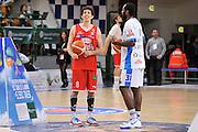 DESCRIZIONE : Campionato 2015/16 Serie A Beko Dinamo Banco di Sardegna Sassari - Grissin Bon Reggio Emilia<br /> GIOCATORE : Amedelo Della Valle Christian Eyenga<br /> CATEGORIA : Before Pregame Ritratto Fair Play<br /> EVENTO : LegaBasket Serie A Beko 2015/2016<br /> GARA : Dinamo Banco di Sardegna Sassari - Grissin Bon Reggio Emilia<br /> DATA : 23/12/2015<br /> SPORT : Pallacanestro <br /> AUTORE : Agenzia Ciamillo-Castoria/C.Atzori