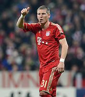 FUSSBALL   CHAMPIONS LEAGUE  HALBFFINAL HINSPIEL   2011/2012      FC Bayern Muenchen - Real Madrid          17.04.2012 Bastian Schweinsteiger (FC Bayern Muenchen)