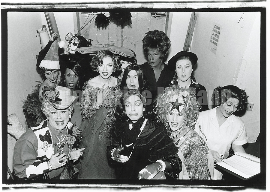 1990s:  A group portrait of drag queens in New York City.