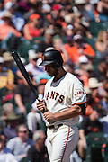 San Francisco Giants starting pitcher Madison Bumgarner (40) waits for a pitch during a game against the San Diego Padres at AT&T Park in San Francisco, Calif., on September 14, 2016. (Stan Olszewski/Special to S.F. Examiner)