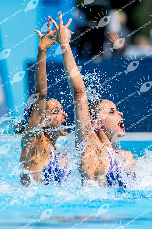 ALVAREZ Anita, WORONIECKI Victoria USA<br /> Women's Duet Technical Final Technical Routine<br /> Synchronised Swimming, Synchro<br /> Day 03 16/07/2017 <br /> XVII FINA World Championships Aquatics<br /> City Park - Varosliget Lake<br /> Budapest Hungary July 14th - 30th 2017 <br /> Photo @ A.Masini/Deepbluemedia/Insidefoto