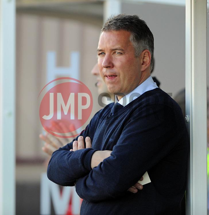 Peterborough United Manager, Darren Ferguson - photo mandatory by-line David Purday JMP- Tel: Mobile 07966 386802 - 11/10/14 - Crawley Town v Peterbourgh United - SPORT - FOOTBALL - Sky Bet Leauge 1  - London - Checkatrade.com Stadium