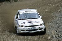 Mobil 1/RAC British Rally Championship 1997. RSAC Scottish Rally. Julian Reynolds/Chris Jones. Ford Escort. World Copyright: Peter Taylor/PSP. Copy of publication required for printed pictures. Every used picture is fee-liable..