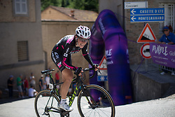 Eugenia Bujak (POL) of \btcc rides near the top of the final climb of Stage 5 of the Giro Rosa - a 12.7 km individual time trial, starting and finishing in Sant'Elpido A Mare on July 4, 2017, in Fermo, Italy. (Photo by Balint Hamvas/Velofocus.com)