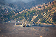 Pura Luhur Poten, Hindu Temple at Segara Wedi sand plain of Mount Bromo, Indonesia