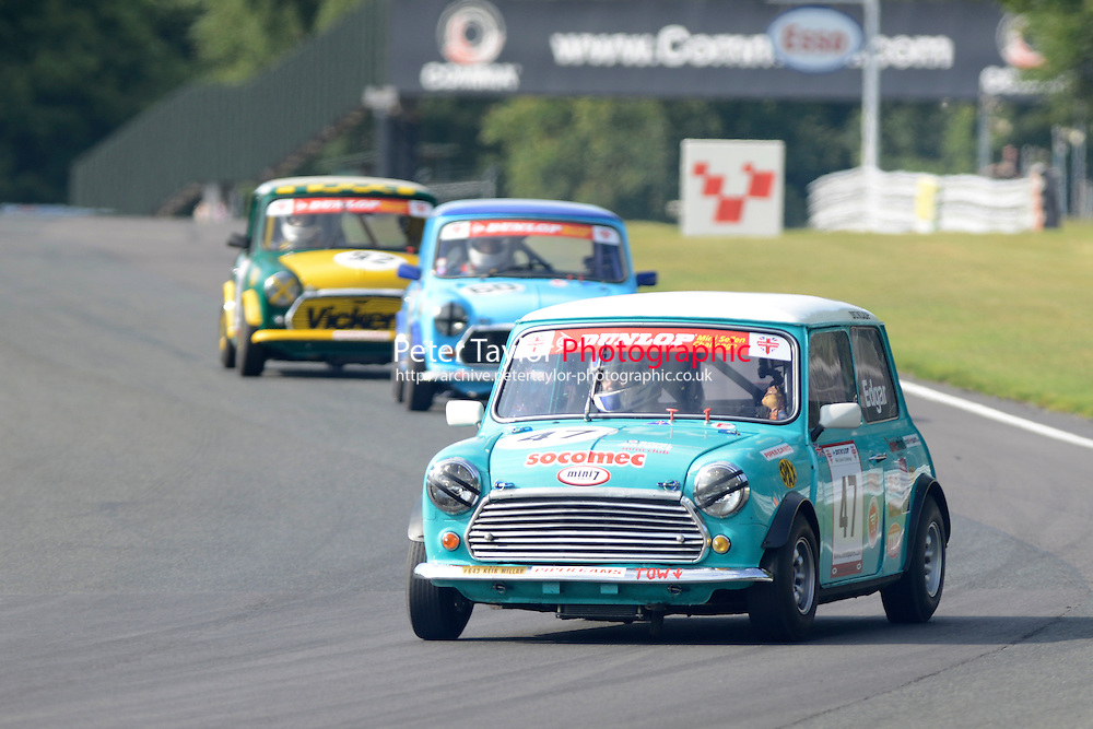 #47 Kelvin Edgar Mini 7 during Mini Se7en - Race 2 as part of the Mini Festival  at Oulton Park, Little Budworth, Cheshire, United Kingdom. August 08 2015. World Copyright Taylor/PSP. Copy of publication required for printed pictures.  Every used picture is fee-liable. http://archive.petertaylor-photographic.co.uk
