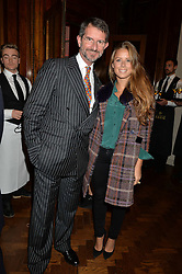 COUNT MANFREDI DELLA GHERARDESCA and LYDIA FORTE at a party to celebrate the launch of the Maison Assouline Flagship Store at 196a Piccadilly, London on 28th October 2014.  During the evening Valentino signed copies of his new book - At The Emperor's Table.