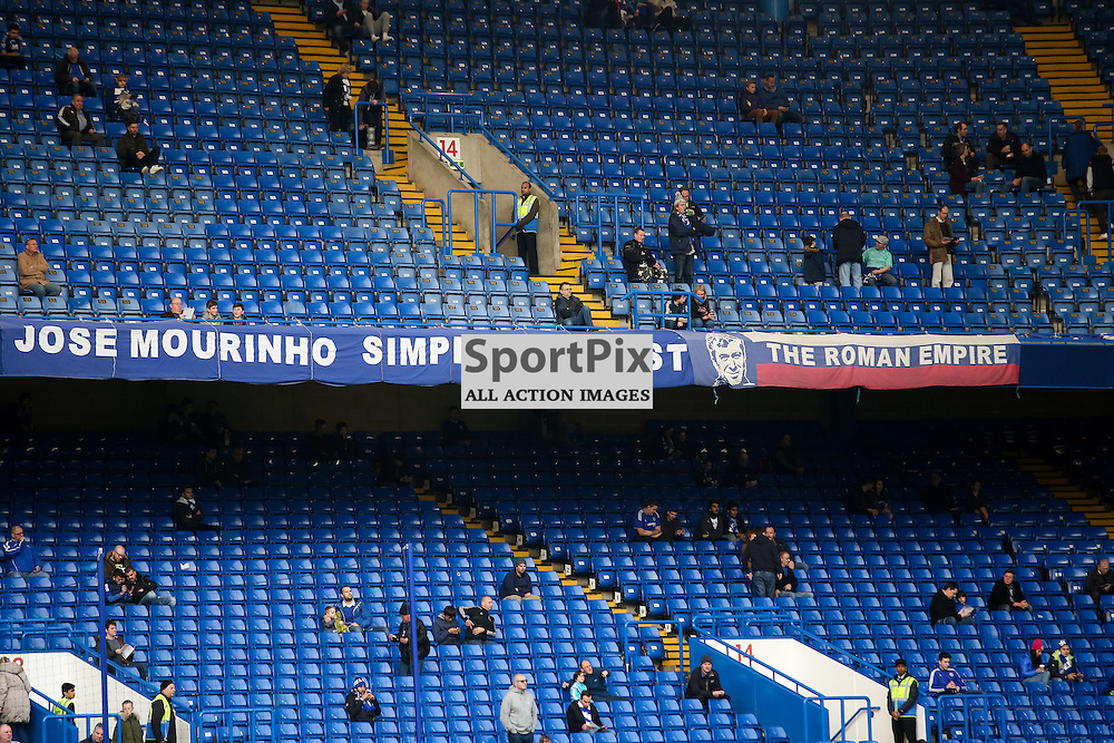 Chelsea banners about Jose Mourinho During Chelsea vs Sunderland on Saturday the 19th December 2015.