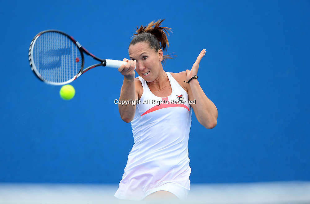Jelena Jankovic (SRB) during the 1st round of play<br /> 2015 Australian Open Tennis / Day 2<br /> Grand Slam of Asia Pacific<br /> Melbourne Park, Vic Australia<br /> Tuesday 20 January 2015<br /> &copy; Sport the library / Jeff Crow