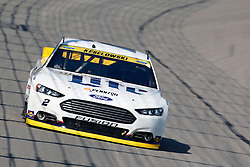 NASCAR Sprint Cup Series auto racing driver ___ at Kansas Speedway in Kansas City, Kan., Sunday, Oct. 18, 2015. (AP Photo/Colin E. Braley)