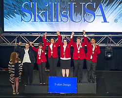 The 2017 SkillsUSA National Leadership and Skills Conference Competition Medalists were announced Friday, June 23, 2017 at Freedom Hall in Louisville. <br /> <br /> T-Shirt Design<br /> <br /> Nour Tanbal<br />   High School Tucson High Magnet School<br />   Gold Tucson, AZ<br /> T-Shirt DesignEric Todd<br />   High School Middle Creek High School<br />   Silver Apex, NC<br /> T-Shirt DesignEmma Richter<br />   High School Waldo County Technical Center<br />   Bronze Waldo, ME<br /> T-Shirt DesignMarkie James<br />   College Catawba Valley Community College<br />   Gold Hickory, NC<br /> T-Shirt DesignDaniel Carmona<br />   College Orange Technical College - Mid-Florida Campus<br />   Silver Orlando, FL<br /> T-Shirt DesignMeaghan Hill<br />   College Moore Norman Technology Center<br />   Bronze Norman, OK