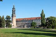 Neues Schloss und Turm altes Schloss, Weimar, Thüringen, Deutschland | New Palace and tower of old castle, Weimar, Thuringia, Germany