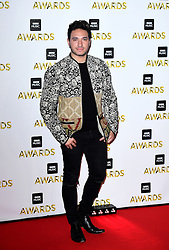 Jonas Blue attending the BBC Music Awards at the Royal Victoria Dock, London.