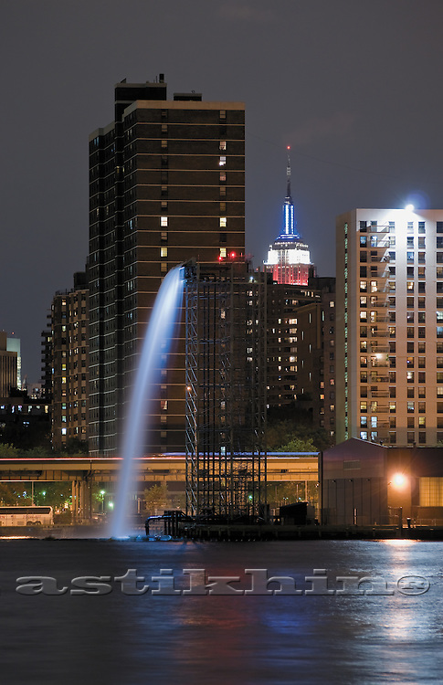 Waterfall in Manhattan