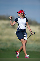 Bildnummer: 14242702  Datum: 17.08.2013  Copyright: imago/Icon SMI<br /> 17 AUGUST 2013: Paula Creamer of the United States Solheim Cup team celebrates a birdie putt on the fourth hold during the foursome matches on day 2 of The Solheim Cup at the Colorado Golf Club in Parker, Colorado. GOLF: AUG 17 LPGA Golf Damen - The Solheim Cup - Second Round <br /> Norway only