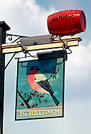 Pub Signs, The Bullfinch, Riverhead, Kent, Britain