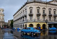 HAVANA, CUBA - CIRCA MARCH 2017: Old car in the streets of Havana.